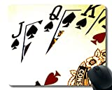 Playing Poker Mousepad,Poker Cards Art Mouse Pad Stitched Border