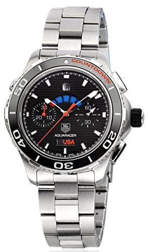 Tag Heuer Aquaracer Automatic Chronograph Black Dial Stainless Steel Mens Watch CAK211B.BA0833