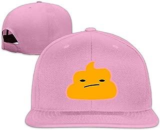 ZYXcustom Yellow Poop Face Snapback Unisex Adjustable Flat Bill Visor Hip-Hop Hat