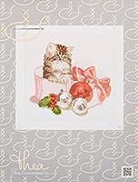 """アイーダのクリスマス子猫カウント クロスステッチ キット-12-1/4""""X 11-3/4""""16 カウント"""