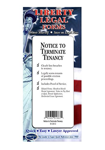 Notice to Terminate Tenancy Form - USA - Do-it-Yourself Legal Forms by Permacharts