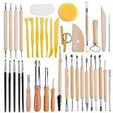 BENECREAT 40PCS Herramientas para Esculpir Arcilla Conjunto de Herramientas de Talla de Ceramica - Incluye moldeadores de Herramientas de Modelado para Profesionales o Principiantes
