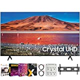 SAMSUNG UN65TU7000 65' 4K Ultra HD Smart LED TV (2020 Model) Bundle with Premiere Movies Streaming 2020 + 30-70 Inch TV Wall Mount + 6-Outlet Surge Adapter + 2X 6FT 4K HDMI 2.0 Cable