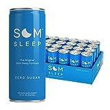 Som Sleep, The Original Sleep Support Formula w/ Melatonin, Magnesium, Vitamin B6, L-Theanine & GABA – Non-GMO, Vegan, Gluten-Free Sleep Aid Drink Supplement – Zero Sugar, 8.1 Fl Oz, 24-Pack