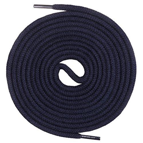 Mount Swiss runde Premium-Schnürsenkel aus 100% Baumwolle - sehr reißfest Farbe Dunkelblau Länge 80cm