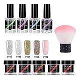 Caeasar Conjunto de arte de uñas de capa superior de capa base de polvo de inmersión de uñas de moda Esmaltes en gel