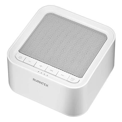 AVANTEK Generatore di Rumore Bianco Portatile con 20 Melodie, 30 Livelli di Volume e Timer Fino a 7 Ore