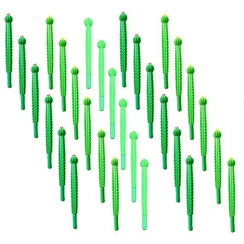 30 Piece Of Lovely Soft rubber cactus shaped Rollerball Gel Pen Neutral 0.5mm Black Ink Gel Pen Writing pen For Office School Supplies
