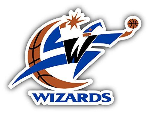 hotprint Wizards Basketball - Washington Sport Logo Car Bumper Sticker Decal 5'' X 4''