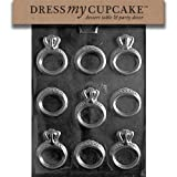 Dress My Cupcake Chocolate Candy Mold, Engagement/Wedding Ring, Wedding by Dress My Cupcake