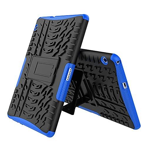 GUOQING Mangas de la Bolsa de la Caja de la PC de la Table Cubierta de la Tableta para Huawei MediaPad T3 10 Pulgadas Textura de neumáticos TPU + PC Funda Protectora con Soporte de Mango Plegable