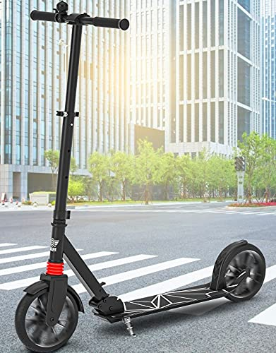 Peradix Kick Scooter for Adults & Teens, Lighted Large Wheels, Folding Scooter for Riders Up to 220 lbs, Foldable Quick-Release Folding System Portable Scooters for Kids 8 Years and Up