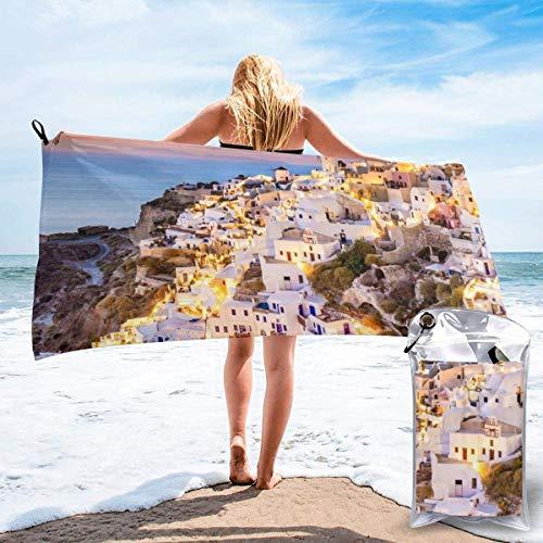 Toallas de Playa de Antiarena de Microfibra para Hombre Mujer, 130x80cm, Toallas Baño Calidad Gigante Secado Rapido para Piscina, Manta Playa, Toalla Yoga Deporte Gimnasio,De Cara al mar