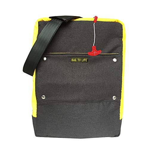 BAG TO LIFE Aviator Messenger Bag Schultertasche mit Clutch Laptoptasche Umhängetasche Crossbag
