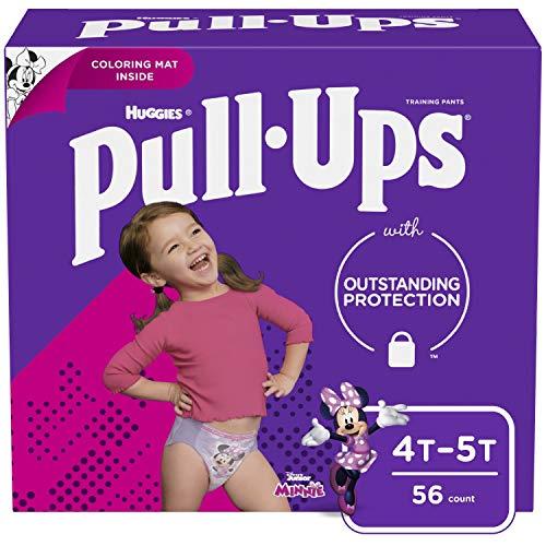 Pull-Ups Girls' Potty Training Pants Training Underwear Size 6, 4T-5T, 56 Ct