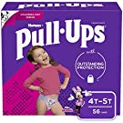 Pull-Ups Girls' Potty Training Pants Training Underwear Size 6, 4T-5T, 56 Ct
