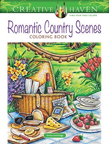 Creative Haven Romantic Country Scenes Coloring Book (Creative Haven Coloring Books)