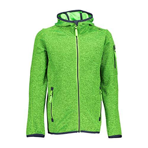 CMP Fleece Knit Tech mit Kapuze Fleece Jacket, Mela-Aloe, 176 Boys