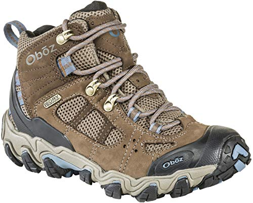 Oboz Bridger Vent Mid B-Dry Hiking Boot - Women's Brindle/Tradewinds Blue 9