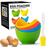 Egg Poacher - Poached Egg Cooker with Ring Standers,...