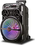 12-Inch Bluetooth Karaoke Machine, Wireless Pa System Speaker, Long Use Time, For Children And Adults, Suitable For Family Gatherings, Meetings, Weddings, Churches