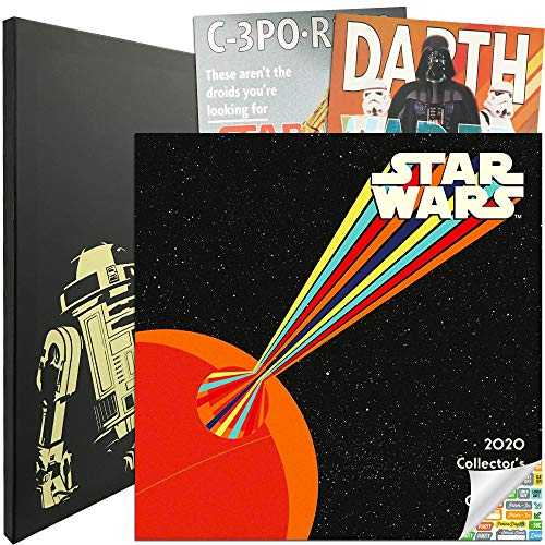 Star Wars Calendar 2020 Bundle - Deluxe 2020 Star Wars Collector's Edition Calendar with Over 100 Calendar Stickers (Star Wars Gifts, Office Supplies)