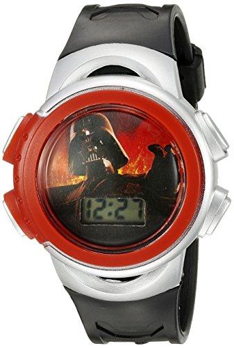 Star Wars Kids' Darth Vader Digital Display Quartz Black Watch