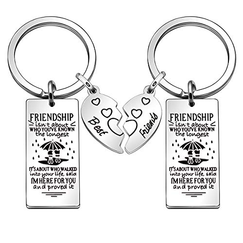 Friendship Gifts, 2 Pcs Best Friend Keychains Key Rings Keyring Christmas Gifts Thanksgiving Gifts...