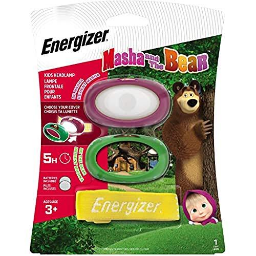 Energizer Torcia Frontale per Bambini, Masha & The Bear, Batterie Incluse