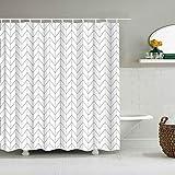 XCBN Semplice Motivo geometrico bagno con doccia decorazione Della casa bagno con doccia tenda da doccia impermeabile A6 90x180cm