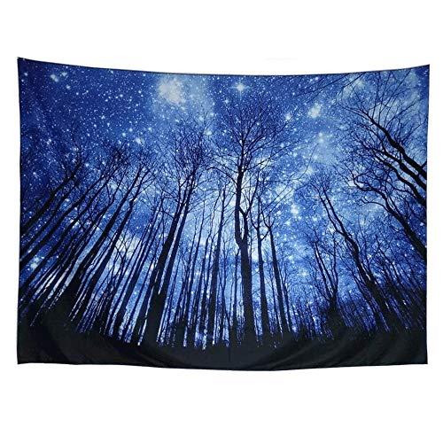 YANGYUAN Psychedelic Estrellada Tapiz Colgar de la Pared del patrón Espacial Galaxy Blue Sky Bosque Estrella tapicerías la decoración del hogar de la decoración del Dormitorio de la Sala de Regalos