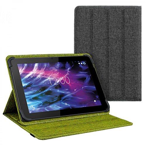 eFabrik Tasche für Medion Lifetab S10365 / S10366 10.1 Zoll Schutz Hülle Hülle Cover grün grau