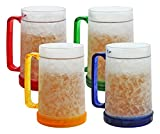 Best Freezer Mugs - Double Wall Gel Frosty Freezer Mugs 16oz, Set Review