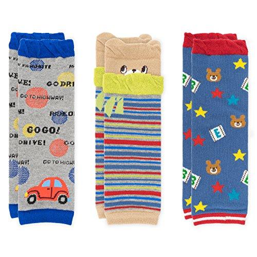 Ateid Baby Kinder Stulpen Beinstulpen aus Baumwolle 3er-Pack