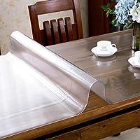 PVCテーブルクロス/保護ステッカー、防水/拭き取り/ソフト、0.2 mm厚テーブルクロスカバー長方形透明テーブル、デスク|ホーム|キッチン|レストラン (色 : A, Size : 60x130x0.2cm)