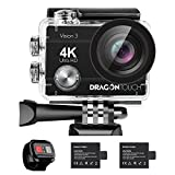 Dragon Touch 4K Action Camera 16MP Vision 3 Underwater Waterproof Camera PC Webcam 170° Wide A…