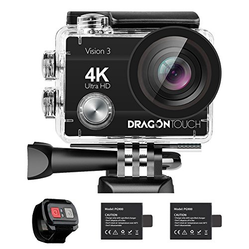 Dragon Touch 4K Action Camera 16MP...