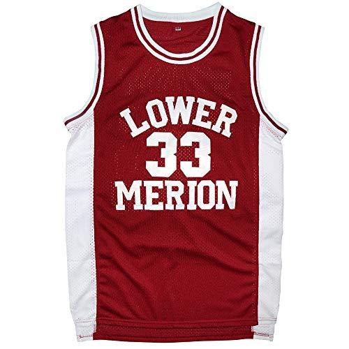 Flymon Mens 33 Bryant Basketball Jerseys S-3XL (L, Red)