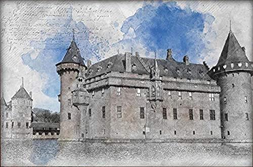 Papel pintado de palacio arquitectónico gris vintage Pared Pintado Papel tapiz 3D Decoración dormitorio Fotomural de estar sala sofá mural-430cm×300cm