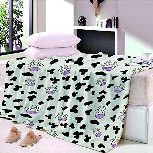 YASHASHII- Kuscheldecke Flanell Mikrofaser 180x200cm 3D Kleines Kuh-Tier Gedruckte Decke Fleecedecke Weich Wohndecke Tagesdecke Dicke Sofadecke zweiseitige Decke Sofa und Bett