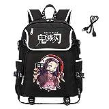 Lanrena Anime Backpack Student Anime 3D Print...