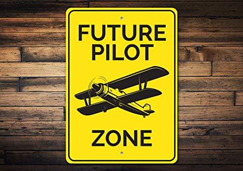 Toekomstige Pilot Zone, Vliegtuig Zone, Air Decor Sign, Luchtvaart Pilot Sign, Vliegtuig Service, Luchtvaart Decor, Luchthaven -Kwaliteitaluminium Type Decor, Metalen Tekenen Tin Plaque Wall Art Poster 12