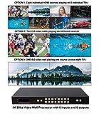 8 Input 8 Output Video Wall 4K 60hz Controller 4x2 2x4 2x3 3x2 2x2 HDMI Matrix Switcher Processor HD Splicer Splitter Four Displays Multiple Inputs 1x5 1x6 1x7 1x8 8x1 7x1 6x1 5x1