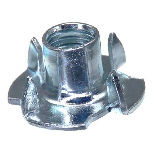 SECCARO Einschlagmutter M8, 11 mm Länge, Stahl verzinkt, 20 Stück