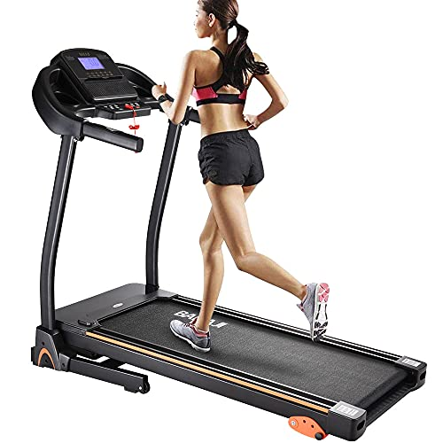 BAKAJI Tapis Roulant Elettrico Pieghevole Allenamento Cardio Fitness Palestra velocità Massima 14 km/h Inclinazione Regolabile con Casse Bluetooth MP3 Supporto Smartphone Tablet