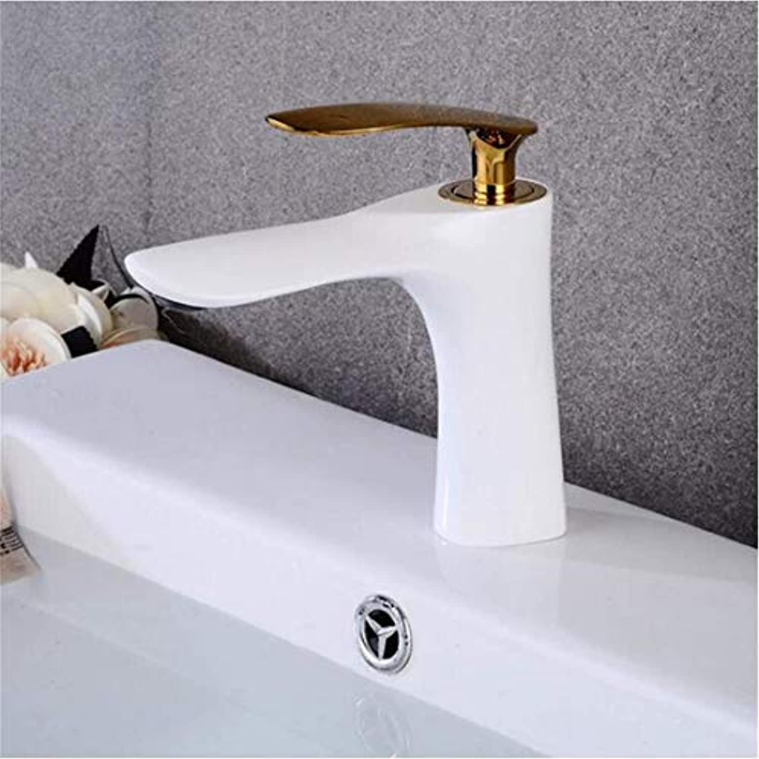 Stainless Steel Vintage Brass Bathroom Faucet Single Handle Basin Mixer Tap Hot And Cold Water Tap Basin Faucet