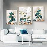 Japonés YamatoKribeeE carteles e impresiones retro lienzo pintura modular arte pared para sala de estar decoración del hogar dormitorio 40,6 x 60,9 cm x 3 paneles