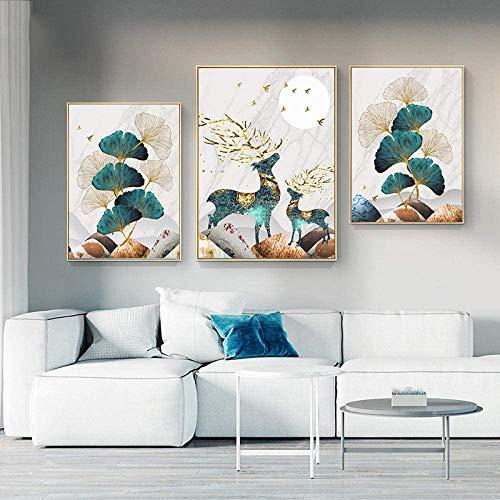 Póster e impresiones japonesas YamatoKribeeE retro, lienzo de pintura, modular, cuadro de pared para sala de estar, decoración del hogar, dormitorio, 60,9 x 80,2 x 30 x 3 piezas