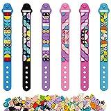 Lot de 6 kits de fabrication de bracelet à bricoler soi-même Cool Arts et artisanat Bracelets d'amitié jouets pour enfants filles garçons adolescents cadeaux d'anniversaire