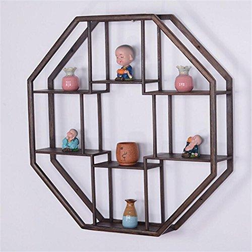 Bloemstandaard, massief hout Chinese stijl muur opknoping eenvoudige theepot thee rek antieke rack